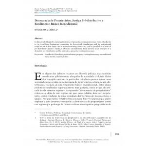 Democracia de Proprietários, Justiça Pré-distributiva e Rendimento Básico Incondicional